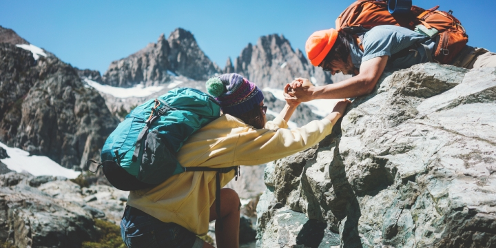 FRIENDS, HELP, MOUNTAINS