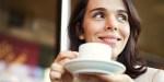 WOMAN, SMILE, COFFEE