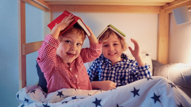 Kids, Brothers, Books, Bed, Bedtime
