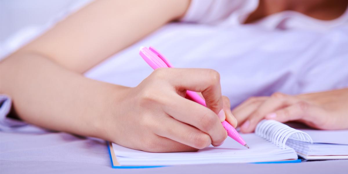 WOMAN WRITING,