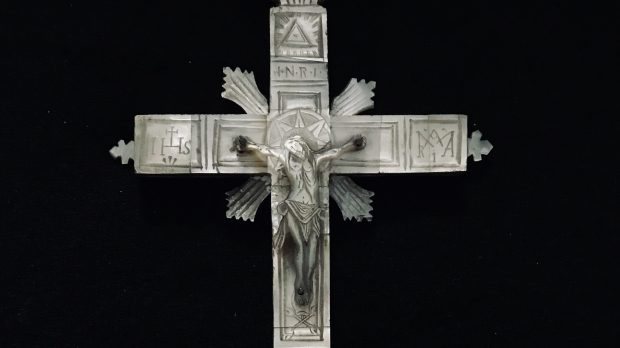 SHELL CROSS; MOTHER OF PEARL