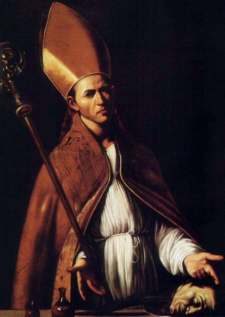 San Gennaro shows his relics