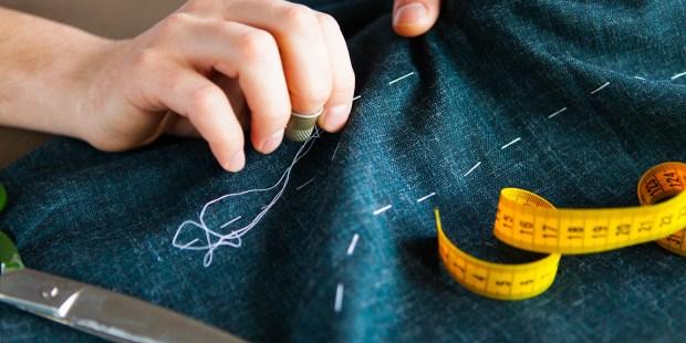 SEWING, NEEDLE, DRESS