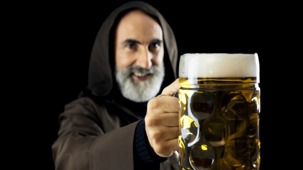 FRIAR WITH BEER,
