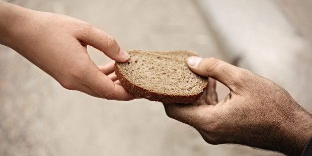 HANDS, BREAD, GIVING