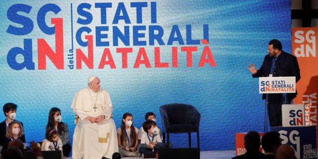 (FOTOGALLERY) Il Papa e Draghi agli Stati Generali della Natalità