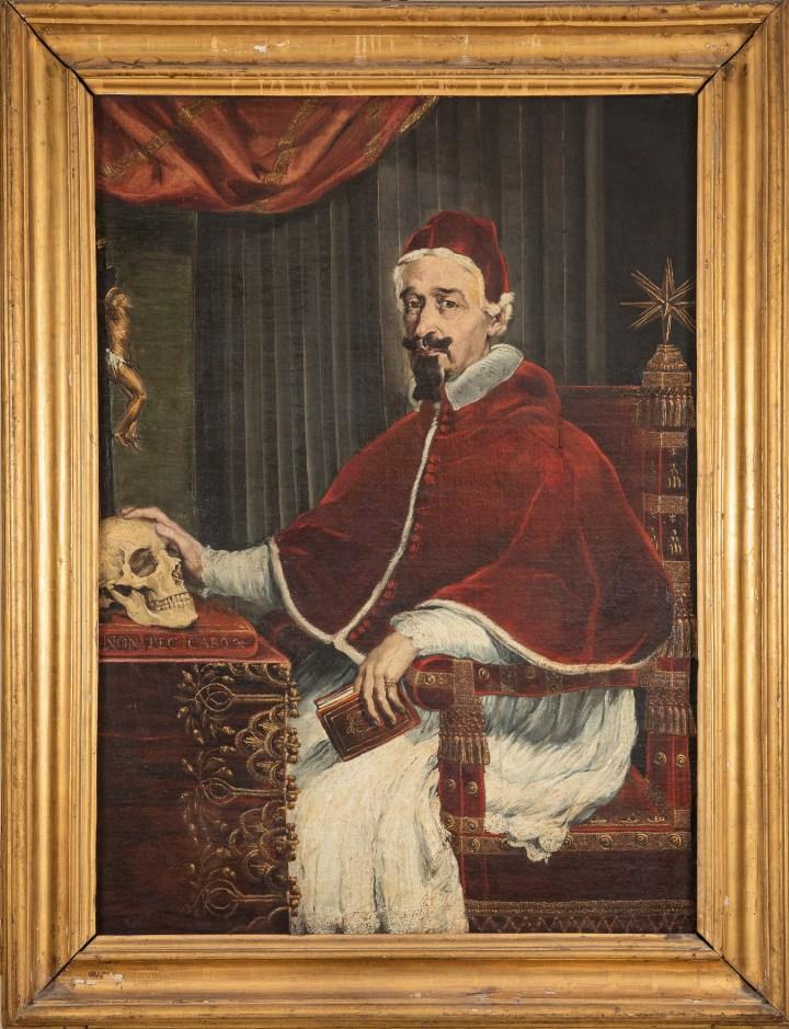 Guido Ubaldo Abbatini, Pope Alexander VII with Bernini's skull, 1655/56