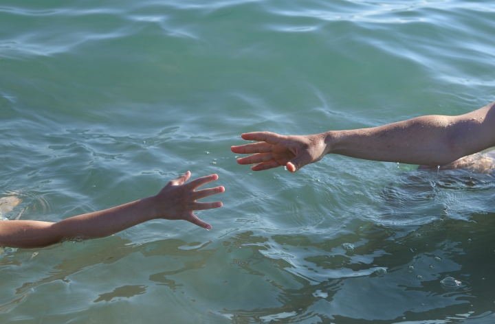 HANDS, FATHER, CHILD, WATER