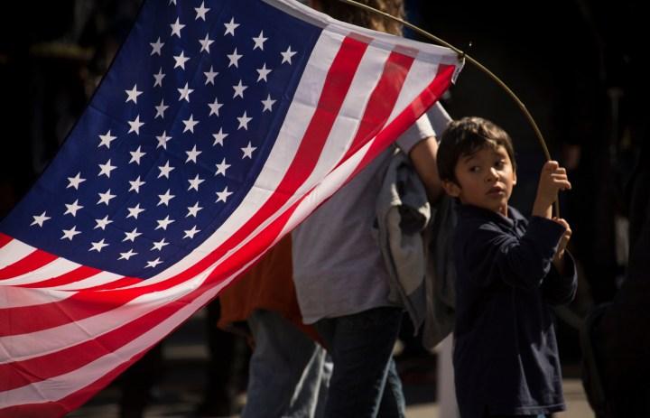 CHILD, AMERICAN FLAG