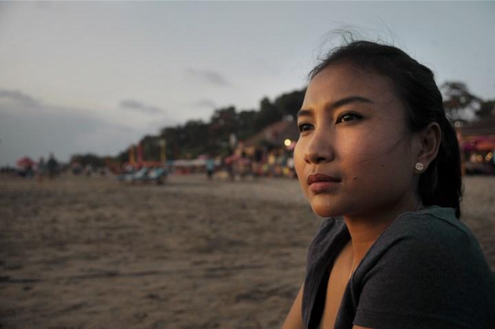 GIRL, BEACH, INDONESIA