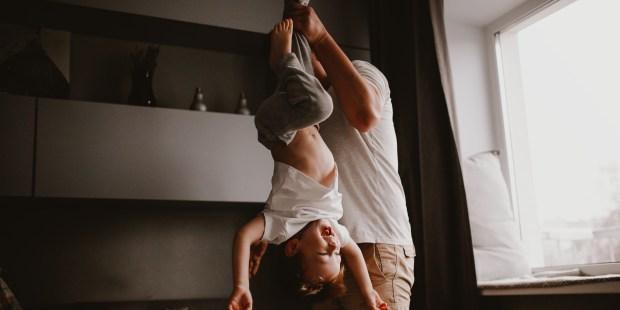 DAD, CHILD, UPSIDE DOWN