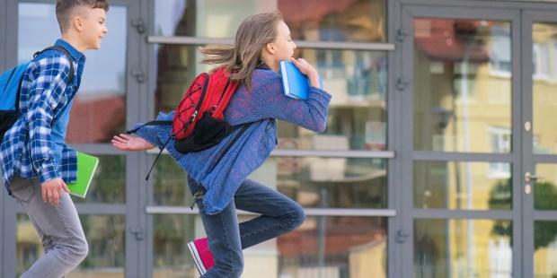 BOYS, RUNNING, SCHOOL