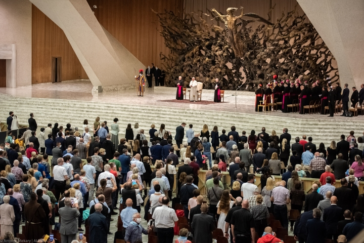 Pope Francis - general view - Paul VI hall