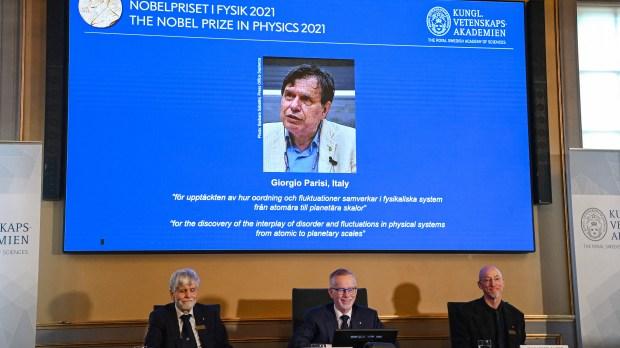 SWEDEN-NOBEL-physics-Giorgio-Parisi-AFP
