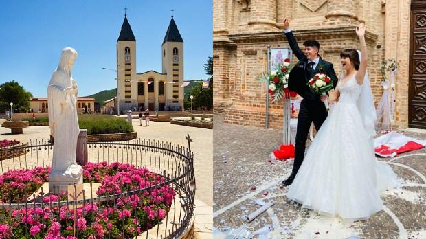 Nostra Signora di Medjugorje - novelli sposi
